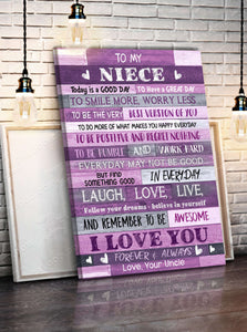 CANVAS - To My Niece (Uncle) - Today is a good day - yenyenstore