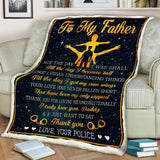Blanket - Police - To my Dad - I truly love you - yenyenstore