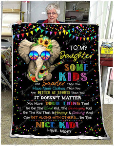 BLANKET HIPPIE Daughter (Mom) Be a Nice Kid - Zalooo.com Custom Wall Art Canvas