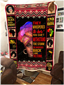 BLANKET BLACK GIRL I'm the Storm