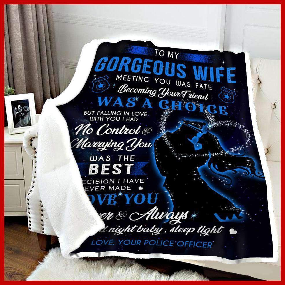 BLANKET - Police - To my wife - Meeting you was fate - yenyenstore