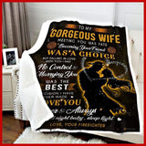 BLANKET - Firefighter - To my wife - Meeting you was fate - yenyenstore