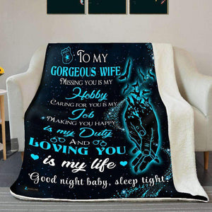 BLANKET - Police - To my wife - Loving you is my life - yenyenstore