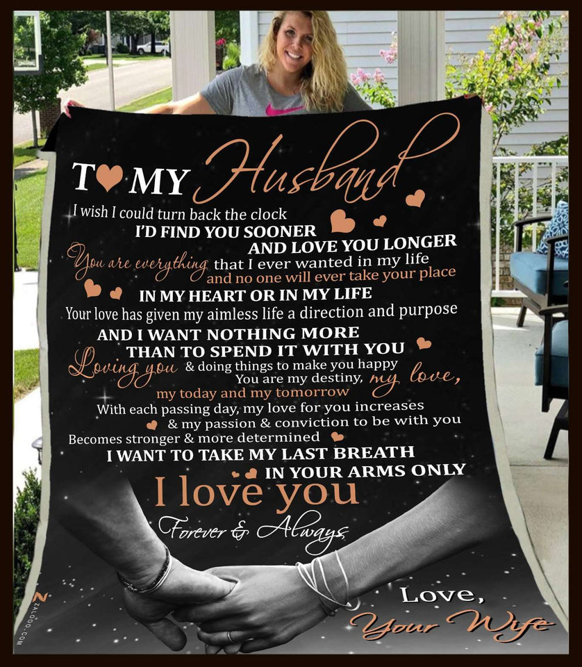 Blanket - To My Husband - I wish I could turn back - yenyenstore