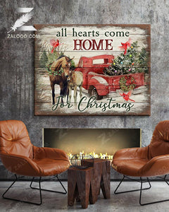 Zalooo Home Horse Wall Art Canvas Christmas Wall Art Canvas - Zalooo.com Custom Wall Art Canvas