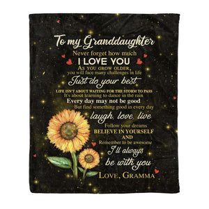 Fleece Blanket - Granddaughter (Gramma) - I'll Always Be With You - yenyenstore