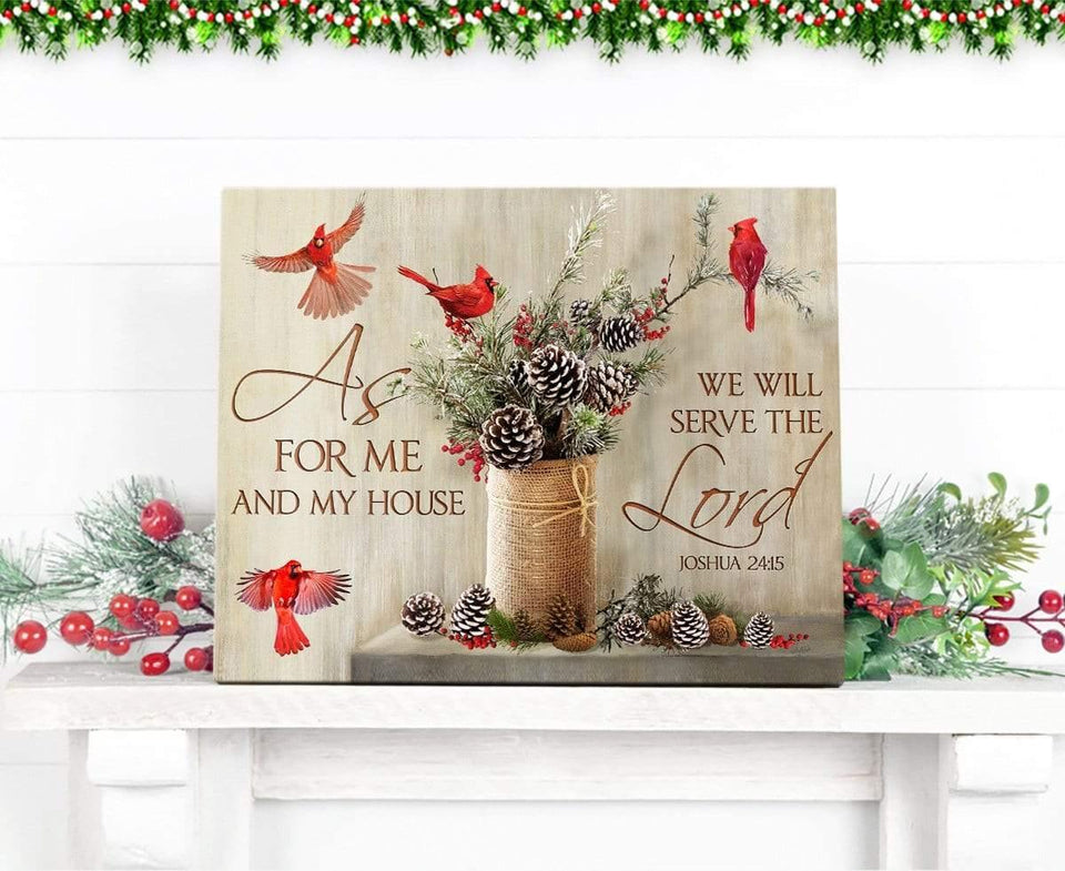Zalooo As For Me Cardinal Wall Art Canvas Christmas Wall Art Canvas - Zalooo.com Custom Wall Art Canvas