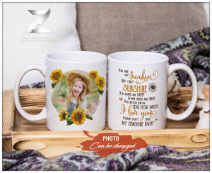 Zalooo White Mug 11 Oz You are my sunshine Personalized Name And Photo