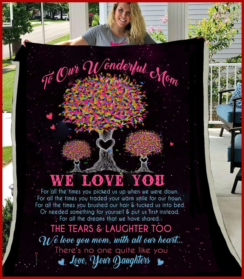 BLANKET - To our wonderful mom - There's no one quite like you - yenyenstore