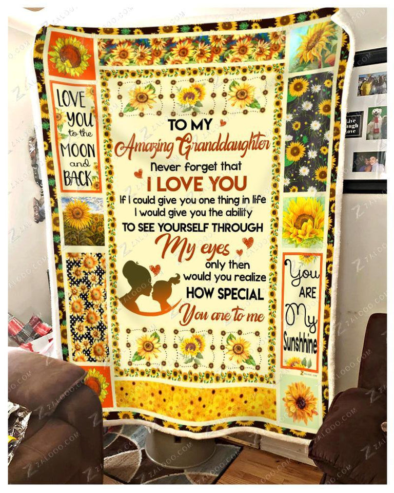 BLANKET - GRANDDAUGHTER - Sunflower - How Special You Are To Me