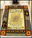 Blanket To My Amazing Granddaughter I'll always be with you - Zalooo.com Custom Wall Art Canvas