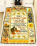 BLANKET TO MY WIFE Sunflower How Special You Are To Me