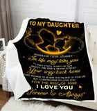 BLANKET - DAUGHTER - Wherever your journey in life may take you (Yellow) - yenyenstore