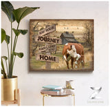 Zalooo May your journey Hereford Cow Canvas Wall Art Farmhouse Decor