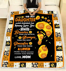 BLANKET DAUGHTER (Mom) Mommy Loves You - Zalooo.com Custom Wall Art Canvas