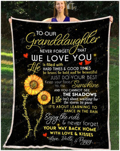 BLANKET Granddaughter (Belle & Poppy) You are my sunshine - Zalooo.com Custom Wall Art Canvas