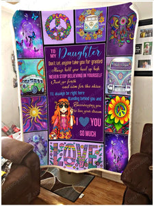 Blanket To my daughter Never stop believing in yourself