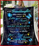 BLANKET BUTTERFLY Granddaughter (Grandma) Once Upon A Time - Zalooo.com Custom Wall Art Canvas