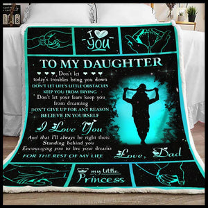 Blanket To my Daughter Don't give up for any reason