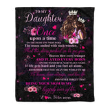 Fleece Blanket - To My Daughter - Once Upon a Time - yenyenstore