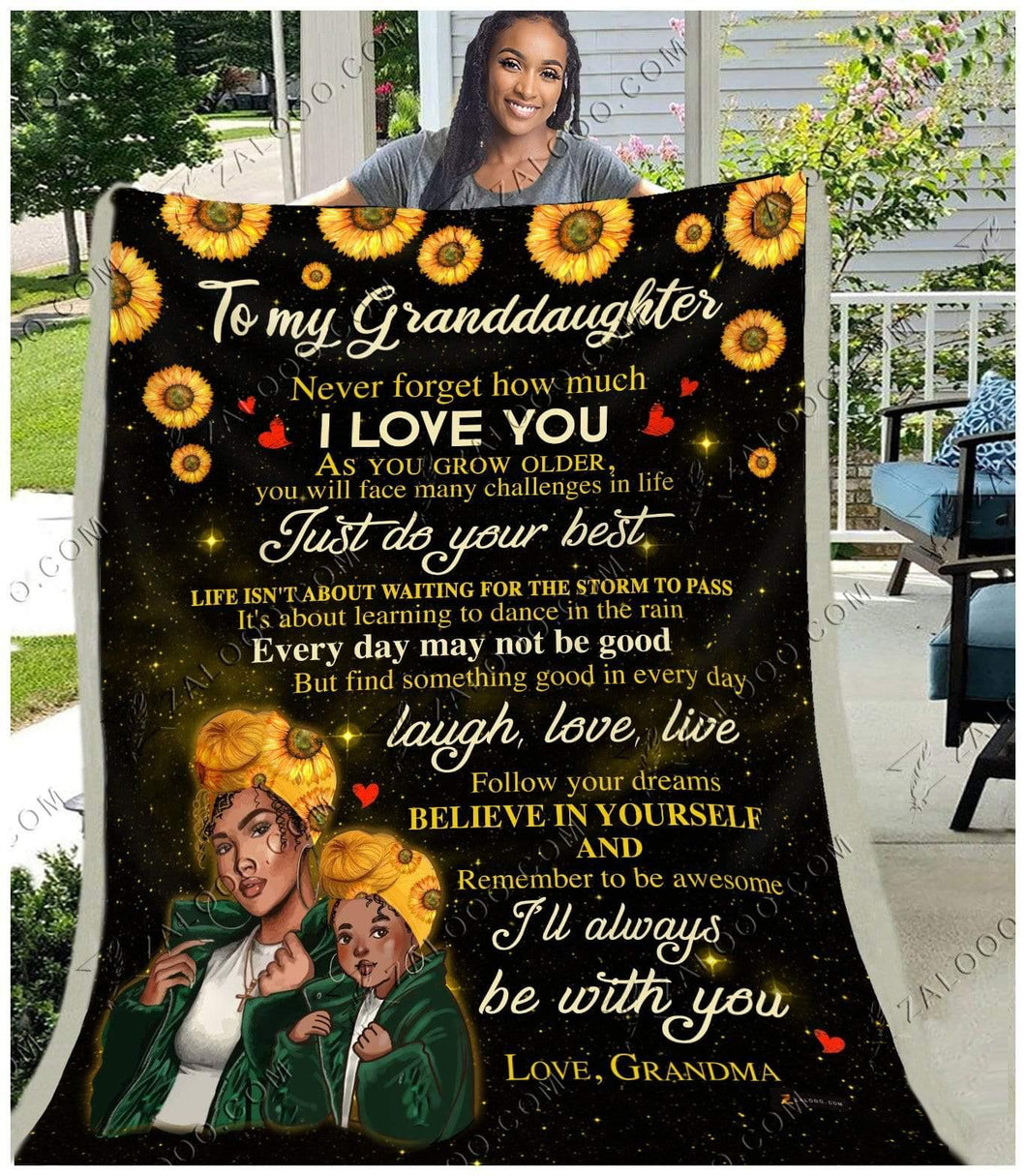 BLANKET BLACK Granddaughter (Grandma) I'll always be with you - Zalooo.com Custom Wall Art Canvas