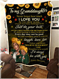 BLANKET BLACK Granddaughter (Grandma) I'll always be with you