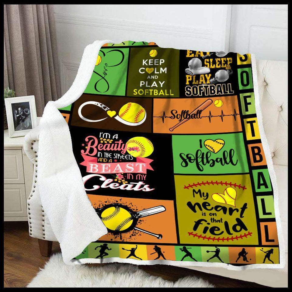 Blanket - Softball - Eat Sleep Play - yenyenstore