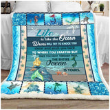 BLANKET - Mermaid - Life Is The Ocean - yenyenstore