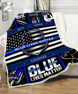 BLANKET - Police - Blue Lives Matter