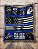BLANKET POLICE Blue Lives Matter.