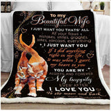 BLANKET - CAT - To my Wife - I just want you that's all - yenyenstore