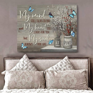 Zalooo My Mind Butterfly Wall Art Canvas