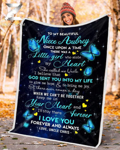 Custom Blanket - BUTTERFLY - Niece (Uncle) - Once Upon A Time