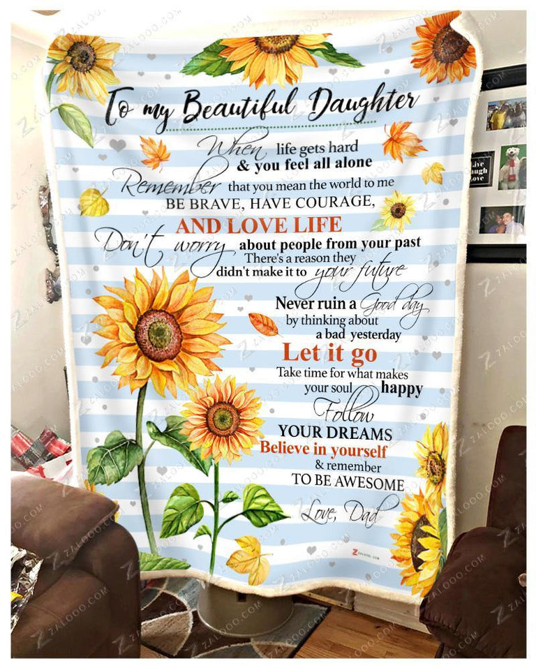BLANKET SUNFLOWER Daughter (Dad) Remember to be Awesome