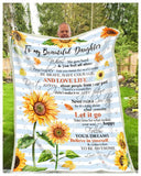 BLANKET - SUNFLOWER - Daughter (Dad) - Remember to be Awesome