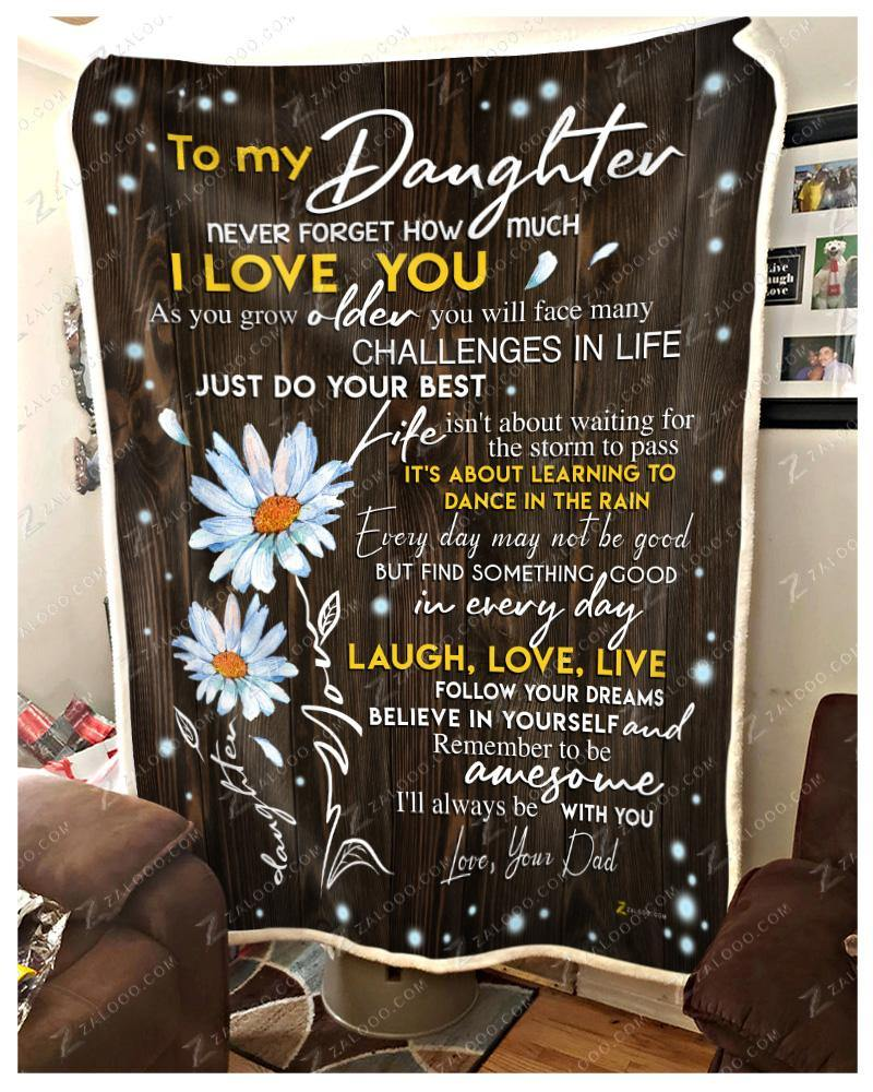BLANKET - DAISY - DAUGHTER (Dad) - I'll always be with you