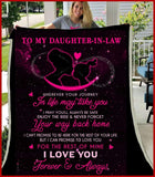 BLANKET - Daughter-in-law - Wherever your journey in life may take you - yenyenstore