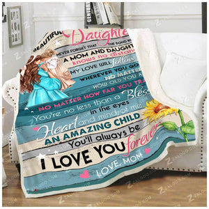 BLANKET The bond between a mom and daughter - Zalooo.com Custom Wall Art Canvas