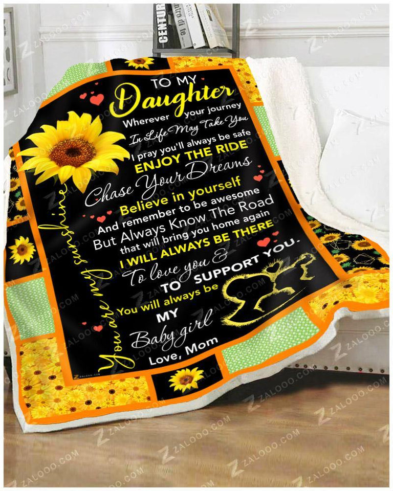 BLANKET DAUGHTER (Mom) Chase Your Dreams - Zalooo.com Custom Wall Art Canvas