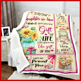 BLANKET DAUGHTER IN LAW Life gave me the gift of you - Zalooo.com Custom Wall Art Canvas