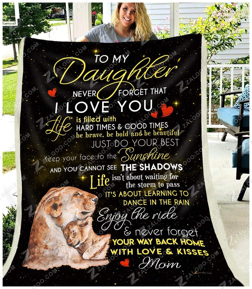 BLANKET - LION - Daughter (Mom) - You are my Sunshine