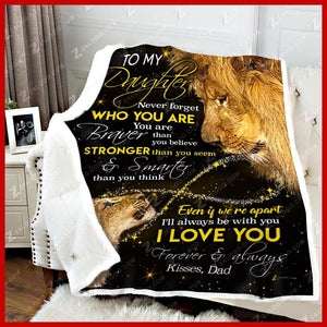 BLANKET LION Daughter (Dad) Never Forget Who You Are - Zalooo.com Custom Wall Art Canvas