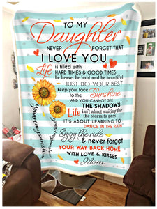 BLANKET Daughter (Mom) You are my sunshine (Blue)