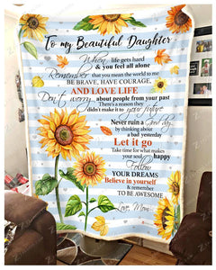 BLANKET - SUNFLOWER - Daughter (Mom) - Remember to be Awesome