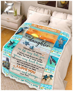 BLANKET - TURTLE - Daughter (Mom) - Wherever Your Journey In Life May Take You