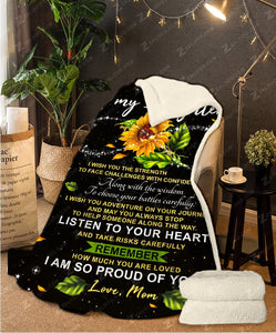 Fleece Blanket To My Daughter I wish you the Strength