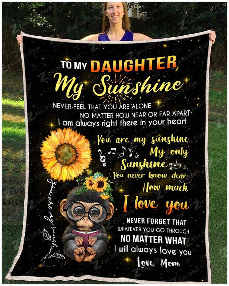 BLANKET MONKEY DAUGHTER (Mom) My only Sunshine