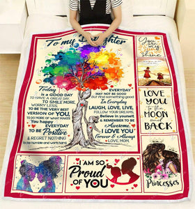 BLANKET DAUGHTER (Mom) Today is a good day Ver2 - Zalooo.com Custom Wall Art Canvas