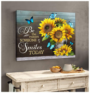 Zalooo Be The Reason Butterfly Wall Art Canvas - Zalooo.com Custom Wall Art Canvas