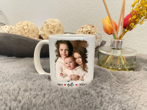 Zalooo White Mug 11 Oz Sisters Forever Personalized Name And Photo